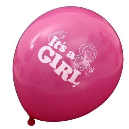 "Ballong ""It´s a girl"" 5 stk"