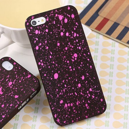 Deksel iPhone 5 Splatter Rosa