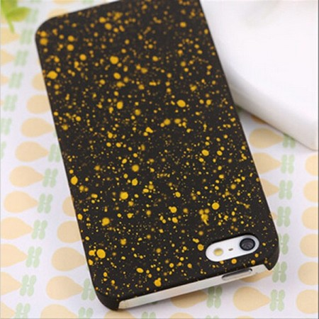 Deksel iPhone 5 Splatter Gul