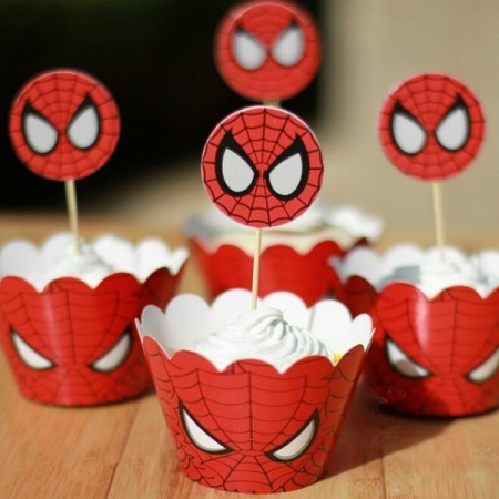 Cupcake Dekor Spiderman 4 stk