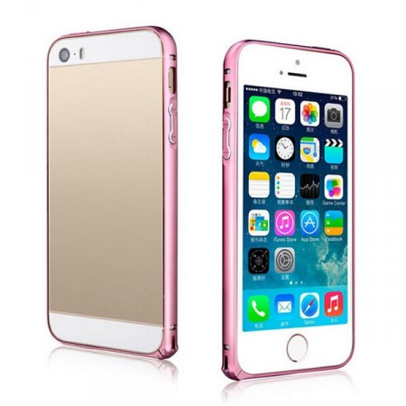 Bumperdeksel iPhone 5 Aluminium Rosa