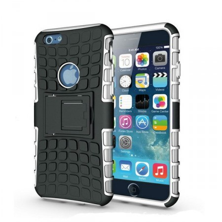Deksel iPhone 6 plus Armour Rubber Hvit