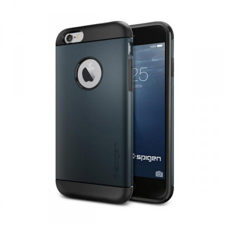 Deksel iPhone 6 Spigen Tough Armor Navy