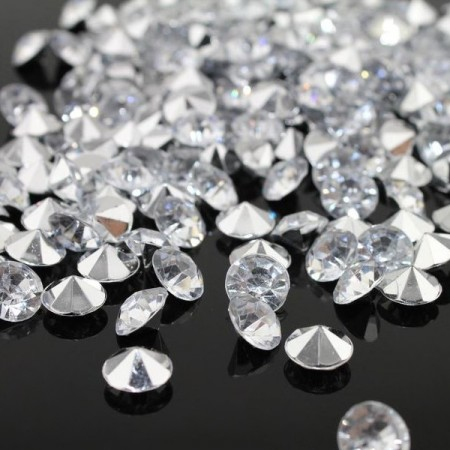Diamant i akryl 100 stk 14mm