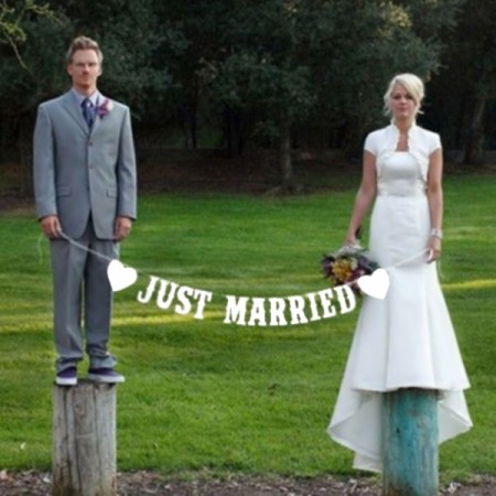 Just Married banner (bokstaver)