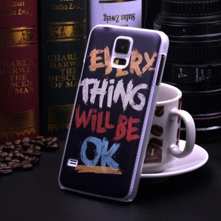 "Deksel Samsung S5 ""Everything will be ok"""