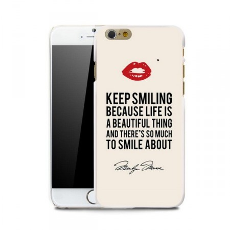 "Deksel iPhone 6 Marilyn ""Keep smiling"""