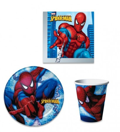 Spiderman Engangsservise 40 stk