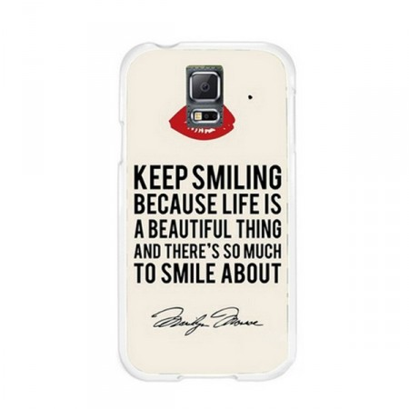 Deksel Samsung S5 Keep smiling